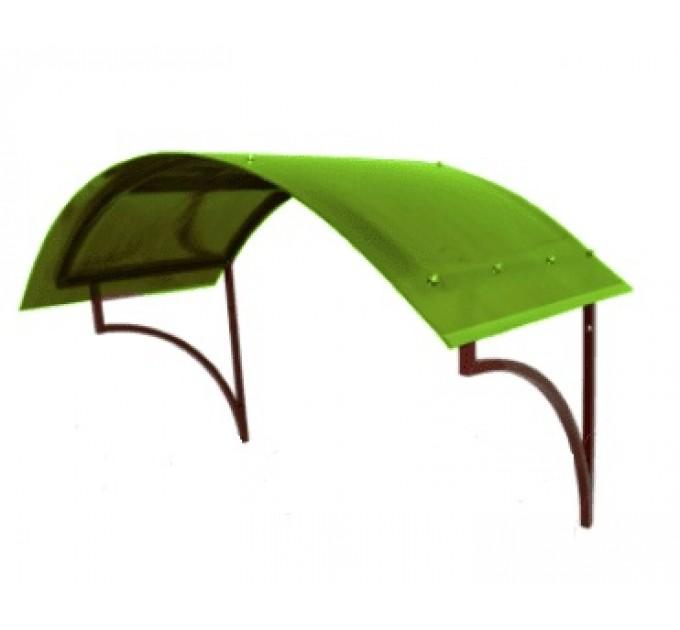 Козырек сварной КЗ-8 зеленый