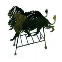 Мангал Лев на стойках