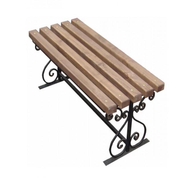 Скамейка с элементами ковки 1,5 м
