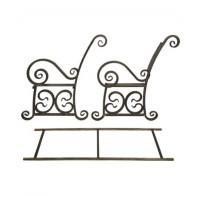 Комплект боковин с рамкой и доской для лавки Версаль 1,5м