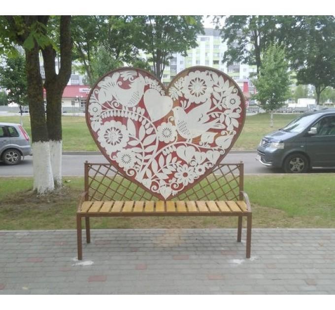 Скамейка Сердце СК2