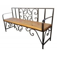 Кованая скамейка для дачи №1