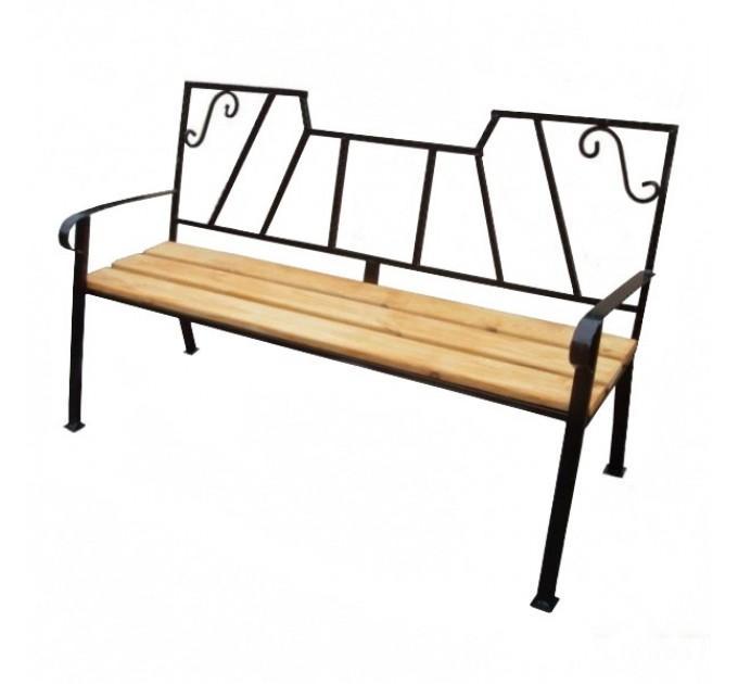 Кованая скамейка №7